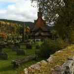 nearby stave church