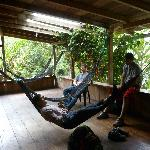  Common area on the second floor with hammocks to enjoy nature in.