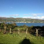 View across the road of Carnlough Bay.