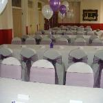 Function Room prepped for Wedding Breakfast at the Borough Arms Hotel