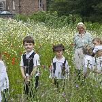 Children in the workhouse garden