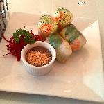 Lovely presentation of fresh Garden Rolls - very tasty too!