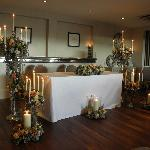 The beautiful wedding table where ceremony took place (inside of the Playground, top floor)
