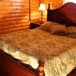Beautiful bedrooms in every cabin