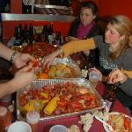 Crawfish boil on Fat Tuesday.