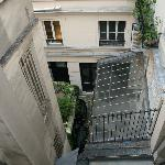 View from room of courtyard/alley