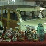 car museum in the restaurant.