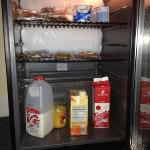 Some of the snacks provided (coffee maker, cereal choices, pop tarts, cookies, crackers etc. are