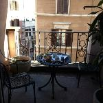  Here is the balcony of our room, which was shady most of the day
