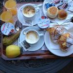  Here was our breakfast the second day