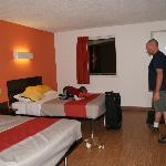room..sorry my son was in the car for 11 hours...he was happy to be out