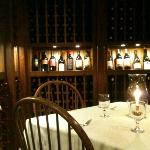 The wine cellar - cool and comfortable