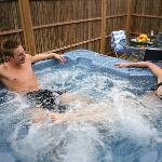 Some of our bungalows have hot tubs