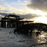 the West pier on a christmas morning