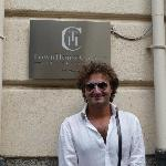  This is Guiseppe in front of his B&amp;B Townhouse Cavour