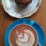 Perfect Coffee and home made cup cake does it get any better?