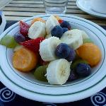 Lovely breakfast fruit salad