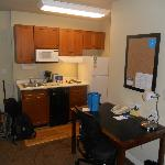  Work desk and kitchenette