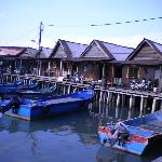 The houses of Chew Jetty