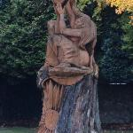 Tree carving outside the spa
