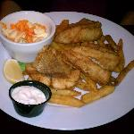 Fish and Chips with a warm coleslaw