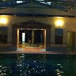 pool in night