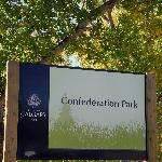 Entrance sign for Confederation Park, Calgary