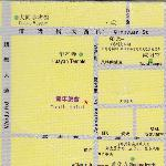 map of Datong city centre with hostel in the middle