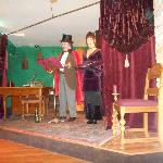 "A scene from ""An Evening with Edgar Allen Poe"""