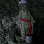 The angel atop the long climb and which is overlooking the cave summit