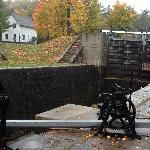 1 of 3 Jones Falls Locks, raising the boats more than 60'ft climb , very historical area with lo
