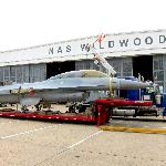 F-16 being delivered