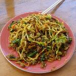 fried curry noodles with beef-- awesome