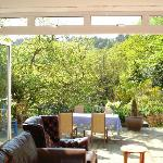 On arrival relax on our decking on the outdoor sofas enjoying a view of the valley and lovely ga