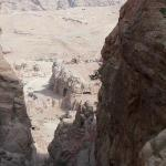 View down to Petra as you cross the ravine