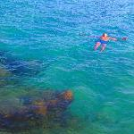  swimming in konnos bay :)