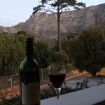  Sipping South African wine on my balcony after a long day of hiking up Table Mountain.