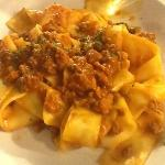 Pasta with wild boar sauce, yummy!