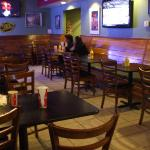 Restaurant tables and sport tv's