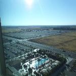 View from 15th floor of pool and parking