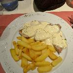solomio (pork loin) and gorgonzola sauce to die for