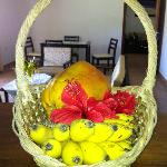 Welcoming fruit basket
