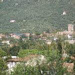 View of Calci from the road above the B&B