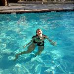 Granddaughter in the pool