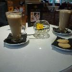 Two Lattes and Home Made Shortbread