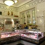 Art Nouveau interior of excellent delicatessen shop Depuydt