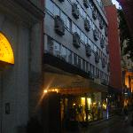  hotel vista da rua