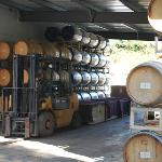 .Barrels being prepared to start the aging process for this years wines.