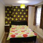double bed-leather