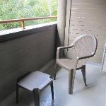 2 chairs and a table on our balcony